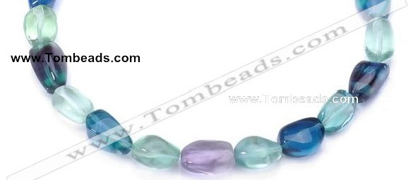 CFL09 AA grade 12*16mm irregular natural fluorite bead Wholesale