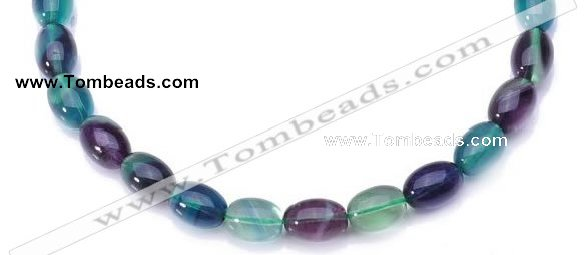 CFL10 16 inch 12*16mm egg-shaped AA grade natural fluorite beads