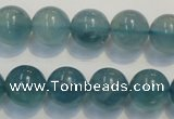 CFL1004 15.5 inches 12mm round blue fluorite beads wholesale