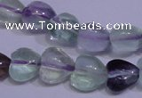 CFL1051 15 inches 8*8mm heart natural fluorite gemstone beads