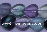 CFL1055 15 inches 16*16mm heart natural fluorite gemstone beads