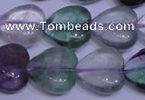 CFL1056 15 inches 18*18mm heart natural fluorite gemstone beads