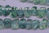 CFL1087 15 inches 8*12mm faceted nuggets blue fluorite beads