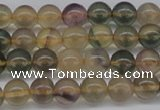 CFL1102 15.5 inches 8mm round yellow fluorite gemstone beads