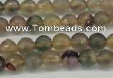 CFL1111 15.5 inches 6mm faceted round yellow fluorite gemstone beads