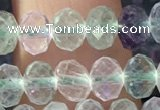 CFL1142 15.5 inches 4*6mm faceted rondelle fluorite gemstone beads