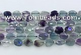 CFL1231 15.5 inches 8*10mm faceted oval fluorite beads