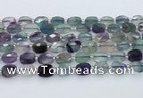 CFL1232 15.5 inches 8*10mm faceted rectangle fluorite beads