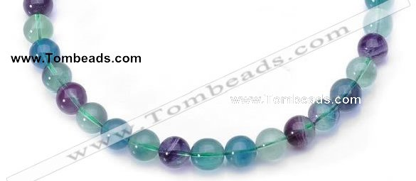 CFL13 16 inch A- grade 8mm round natural fluorite bead Wholesale