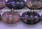 CFL1344 15.5 inches 18*25mm oval purple fluorite gemstone beads