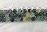 CFL1454 15.5 inches 12mm round fluorite beads wholesale
