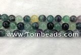 CFL1455 15.5 inches 14mm round fluorite beads wholesale