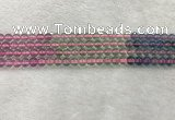 CFL1489 15.5 inches 6mm round rainbow fluorite gemstone beads