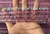 CFL1497 15.5 inches 8mm round purple fluorite gemstone beads