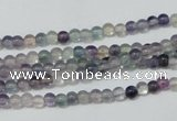 CFL150 15.5 inches 4mm round natural fluorite gemstone beads wholesale