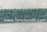 CFL1516 15.5 inches 8mm round blue fluorite gemstone beads
