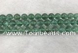 CFL1525 15.5 inches 12mm round green fluorite gemstone beads