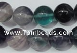 CFL154 15.5 inches 14mm round natural fluorite gemstone beads wholesale