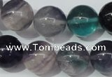 CFL155 15.5 inches 16mm round natural fluorite gemstone beads
