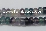 CFL156 15.5 inches 5*8mm rondelle natural fluorite gemstone beads