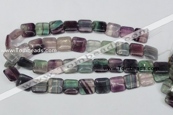 CFL175 15.5 inches 18*18mm square natural fluorite beads wholesale