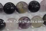 CFL206 15.5 inches 16mm round purple fluorite gemstone beads wholesale