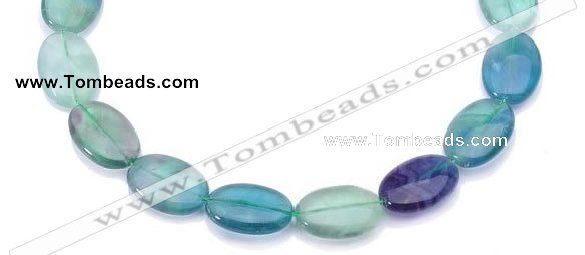 CFL21 A- grade 15*20mm oval natural fluorite beads Wholesale