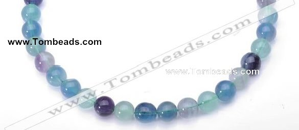 CFL29 16 inch B grade 10mm round natural fluorite gemstone beads