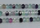 CFL312 15.5 inches 4*6mm faceted rondelle natural fluorite beads