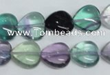 CFL316 15.5 inches 12*12mm heart natural fluorite beads wholesale