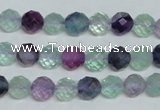 CFL324 15.5 inches 8mm faceted round natural fluorite beads