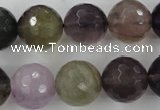 CFL407 15.5 inches 16mm faceted round rainbow fluorite beads
