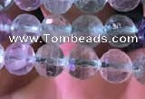 CFL414 15.5 inches 7mm faceted round fluorite gemstone beads