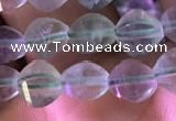 CFL416 15.5 inches 6mm faceted nuggets fluorite gemstone beads