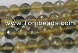 CFL453 15.5 inches 8mm faceted round rainbow fluorite beads