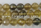 CFL454 15.5 inches 10mm faceted round rainbow fluorite beads