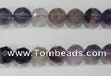 CFL500 15.5 inches 8mm faceted round fluorite beads wholesale