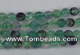 CFL51 15.5 inches 6mm faceted round AB grade natural fluorite beads