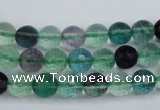 CFL62 15.5 inches 8mm faceted round A grade natural fluorite beads