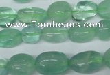 CFL655 15.5 inches 8*10mm - 9*13mm nuggets green fluorite beads