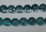 CFL663 15.5 inches 10mm round AB grade blue fluorite beads wholesale