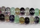 CFL761 15.5 inches 5*8mm rondelle rainbow fluorite gemstone beads