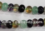CFL762 15.5 inches 6*10mm rondelle rainbow fluorite gemstone beads