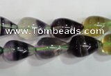 CFL766 15.5 inches 10*16mm teardrop rainbow fluorite gemstone beads