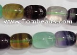 CFL772 15.5 inches 12*16mm drum rainbow fluorite gemstone beads