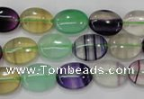 CFL776 15.5 inches 12*16mm oval rainbow fluorite gemstone beads