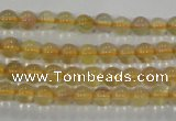 CFL800 15.5 inches 4mm round yellow fluorite gemstone beads