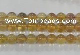 CFL801 15.5 inches 6mm round yellow fluorite gemstone beads
