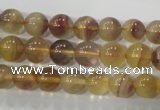 CFL802 15.5 inches 8mm round yellow fluorite gemstone beads