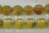 CFL804 15.5 inches 12mm round yellow fluorite gemstone beads